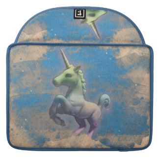 Manga de Macbook del unicornio (azul de Sandy) Fundas Para Macbooks