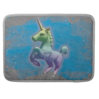 Manga de Macbook del unicornio (nebulosa azul) Fundas Para Macbooks