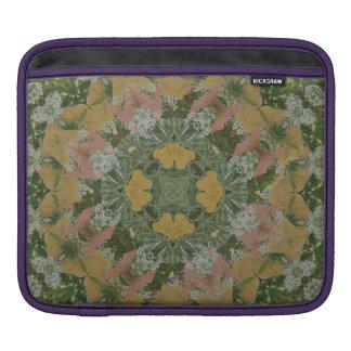 Manga del carrito de la mandala de la primavera funda para iPad