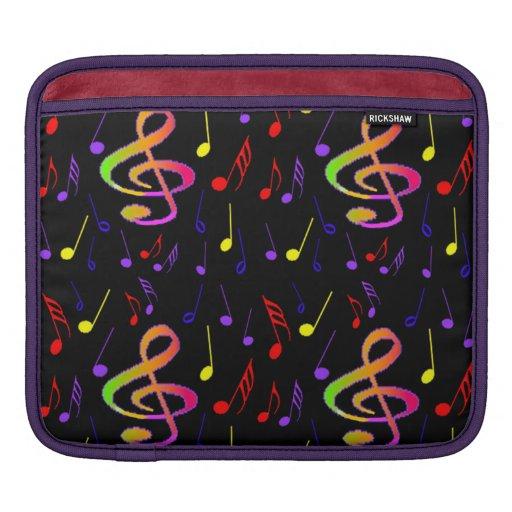 Manga del ipad de las notas musicales fundas para iPads