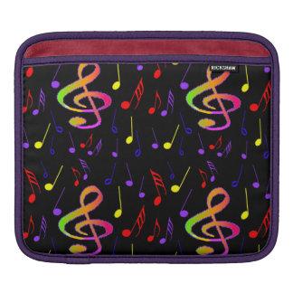 Manga del ipad de las notas musicales funda para iPad