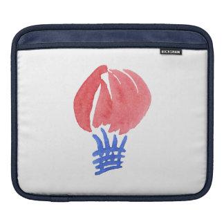 Manga del iPad del balón de aire Funda Para iPads
