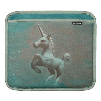Manga del iPad del unicornio (acero del trullo) Funda Para iPad