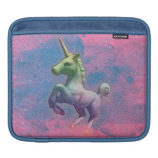 Manga del iPad del unicornio (magdalena rosada) Funda Para iPads