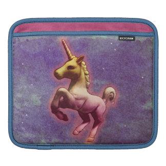 Manga del iPad del unicornio (niebla púrpura) Funda Para iPads
