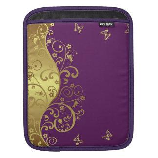 manga del iPad--Remolinos rojos de la violeta y de Funda Para iPad