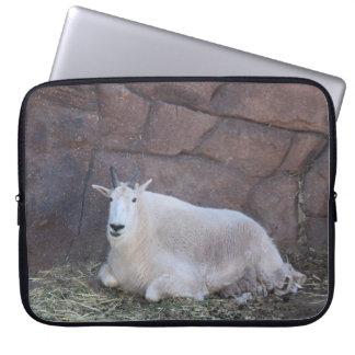 Manga del ordenador portátil de la cabra de funda para portátil
