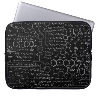 Manga del ordenador portátil de la ciencia funda para ordenador