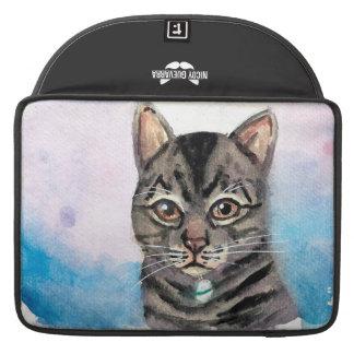 Manga del ordenador portátil de Macbook del gato Fundas Para Macbooks