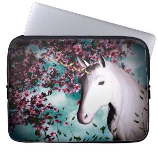 manga del ordenador portátil del unicornio funda para portátil