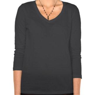 Manga del tamaño extra grande 3/4 de las mujeres d camisetas