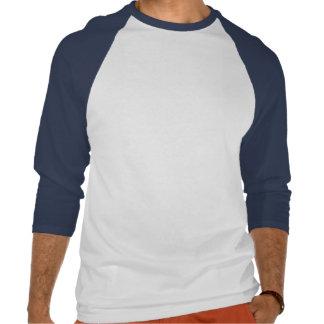 Manga del tres cuartos del lago moose camiseta