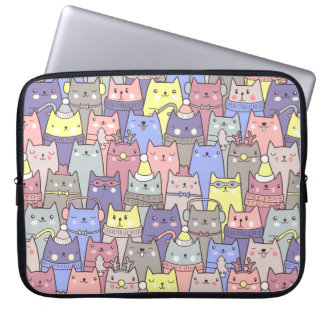 Manga divertida del pastel de los gatos del funda para portátil