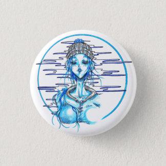 Manga girl snow blue chapa redonda de 2,5 cm