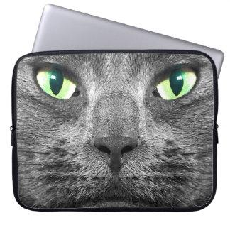 Manga gris ultrarreal del ordenador portátil del funda para portátil