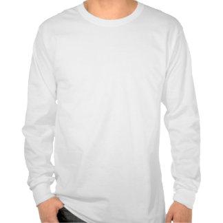 Manga larga blanca de A.M.P con del movimiento la Camisetas