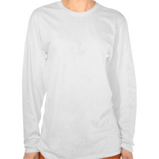 manga larga curvada de la camiseta de las señoras