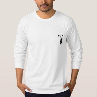 Manga larga de American Apparel del levantador del Camisetas