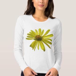 Manga larga de la flor amarilla camisas
