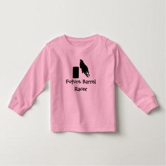 Manga larga de la niña pequeña camiseta de bebé