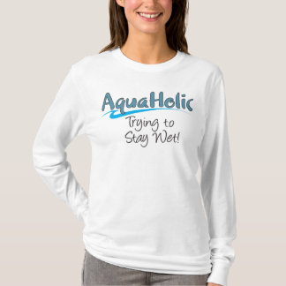 Manga larga de las señoras de AquaHolic Camiseta