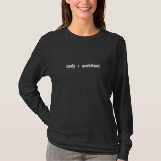 Manga larga de las señoras de la aptitud del flujo camiseta