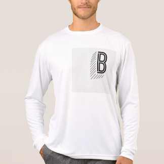 Manga larga del frente y de la parte posterior de camiseta