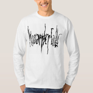 Manga larga del logotipo del ` s de los hombres de camiseta