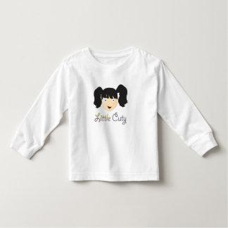 Manga larga del niño, blanca camiseta de bebé