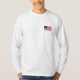 Manga larga EST 1776 del bolsillo del frente de la Camisetas