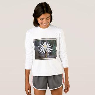 """Manga larga """"floración blanca de la camiseta del"""
