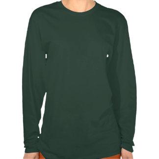 Manga larga personalizada de las señoras de la camiseta