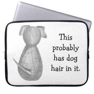 Manga linda del ordenador portátil del perro funda para portátil