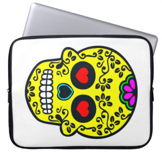 manga mexicana del ordenador portátil del cráneo funda para ordenador