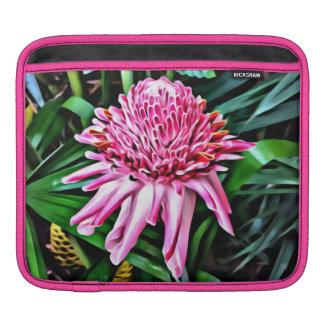 Manga rosada tropical del iPad del jengibre Funda Para iPad