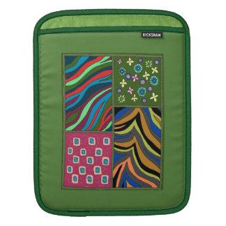 Manga verde tropical intrépida de la vertical del funda para iPad