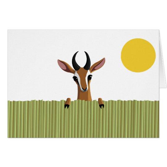 Mango el peekaboo del Gazelle Tarjeta De Felicitación