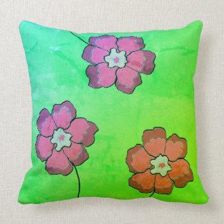 Mangopink verde de la almohada 20x20 del acento