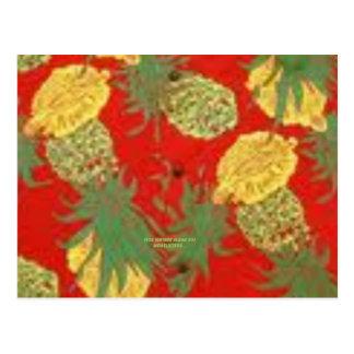 Manía de la piña (impresión de la hawaiana del postal