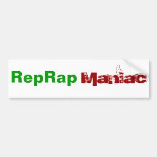 Maniaco de RepRap Pegatina Para Coche