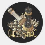 Maniaco del ajedrez pegatinas