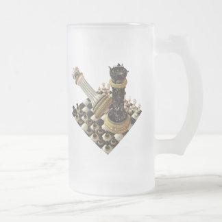 Maniaco del ajedrez taza cristal mate
