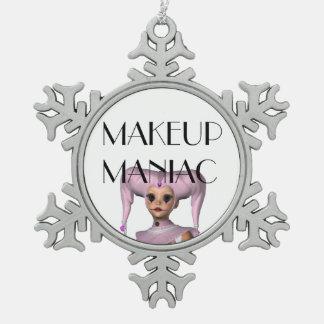 Maniaco del maquillaje de la CAMISETA Adorno De Peltre En Forma De Copo De Nieve