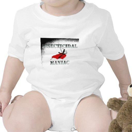 Maniaco insecticida (gris) trajes de bebé