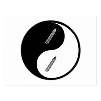 Manicuras de Yin Yang Postal