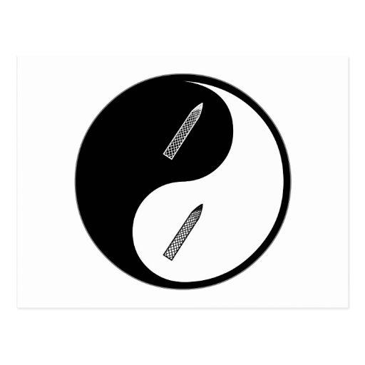 Manicuras de Yin Yang Tarjetas Postales
