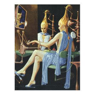 Manicuras del balneario del salón de belleza de la postal