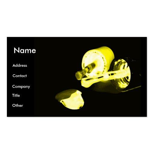 Manicuro en negro y amarillo tarjetas de visita