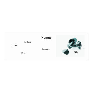 Manicuro en negro y blanco tarjetas de visita mini