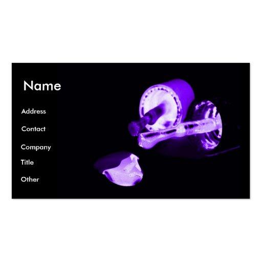 Manicuro en negro y púrpura plantilla de tarjeta personal
